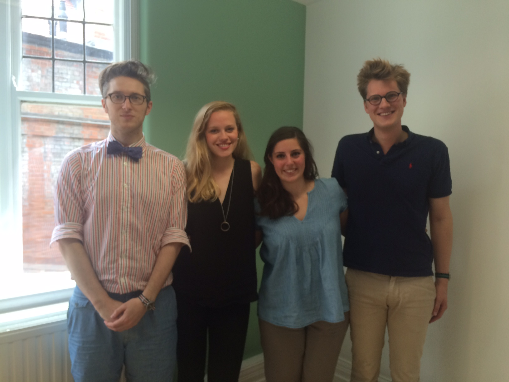 Research students presenting Carwyn Morris, Kate Dawson, Laura Antona, Carl Truedsson