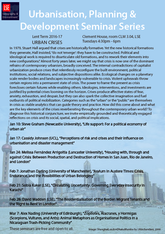 Urban Crises Seminar